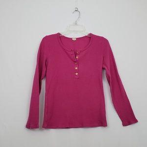 J Crew Pink Thermal Style Top • Size Medium #174